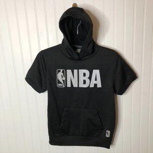 NBA Black Short Sleeve Hoodie Sweatshirt Boy 10/12